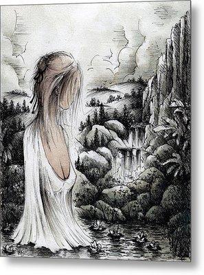 Hand Maiden Of God Metal Print by Rachel Christine Nowicki