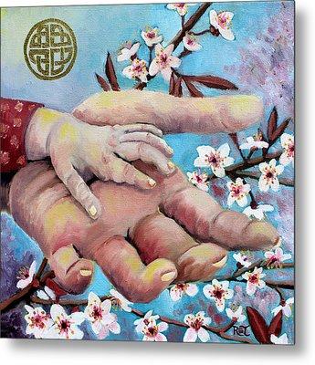 Hands Of Love Metal Print by Renee Thompson