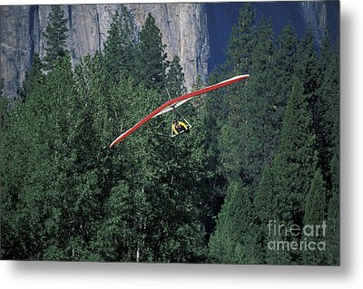 Metal Print featuring the photograph Hang Glider In Yosemite by Stan and Anne Foster