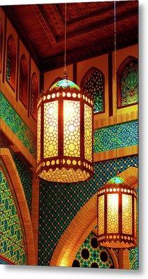 Hanging Lanterns Metal Print by Farah Faizal