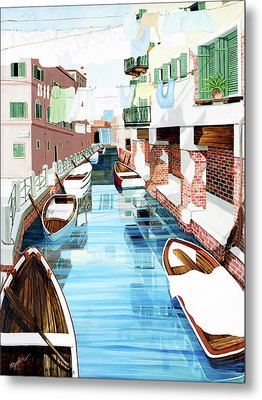 Hanging Out In Venice - Prints From My Original Oil Painting Metal Print