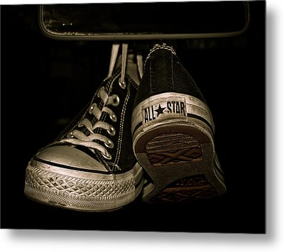 Hanging With Chuck Metal Print by Valerie Morrison