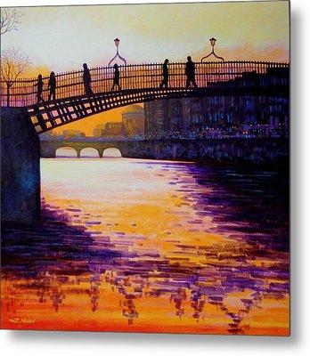 Ha'penny Bridge Dublin Metal Print