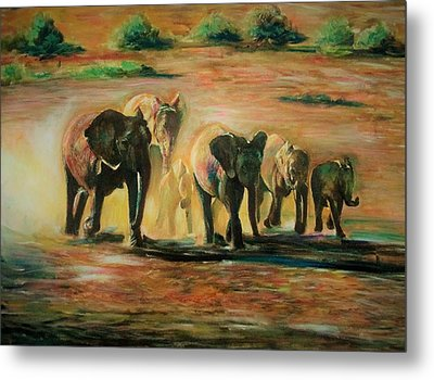 Happy Family Metal Print by Khalid Saeed
