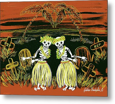 Happy Halloween Dance Metal Print