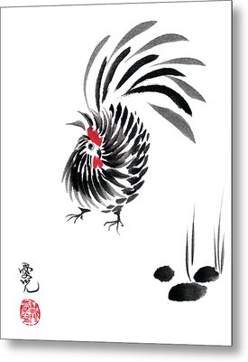Happy Year Of The Rooster Metal Print by Oiyee At Oystudio