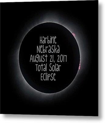Harbine Nebraska Total Solar Eclipse August 21 2017 Metal Print