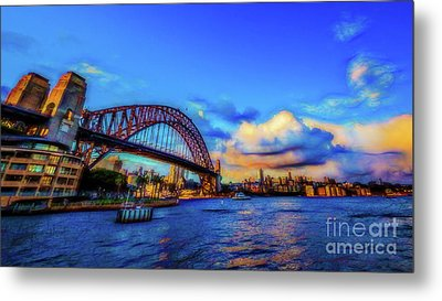 Metal Print featuring the photograph Harbor Bridge by Perry Webster