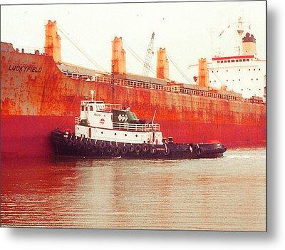 Harbor Tugboat Metal Print by Fred Jinkins