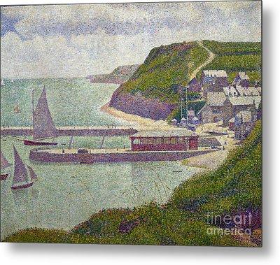 Harbour At Port En Bessin At High Tide Metal Print by Georges Pierre Seurat