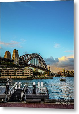 Metal Print featuring the photograph Harbour Sky by Perry Webster