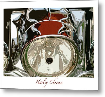 Harley Chrome Metal Print
