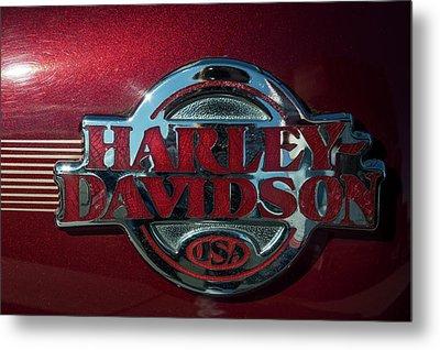 Harley Davidson 12 Metal Print