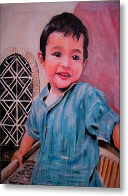 Harmain Metal Print by Khalid Saeed