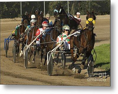 Harness Racing 9 Metal Print by Bob Christopher