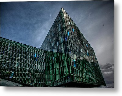 Harpa Metal Print by Wade Courtney