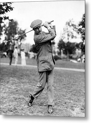 Metal Print featuring the photograph Harry Vardon - Golfer by International  Images