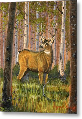 Hart Of The Forest Metal Print by Jeff Brimley