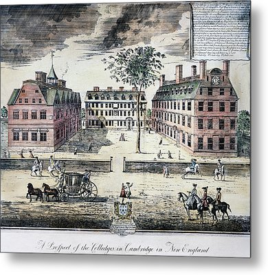 Harvard College, C1725 Metal Print by Granger