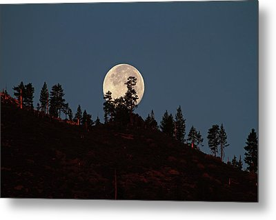 Harvest Moonset Metal Print by Donna Kennedy