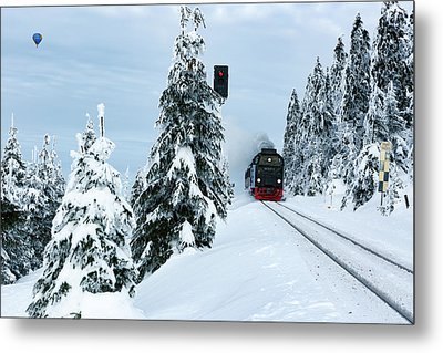 Harz Ballooning And Brocken Railway Metal Print by Andreas Levi
