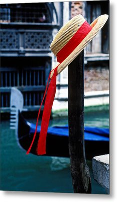 Hat On Pole Venice Metal Print by Garry Gay
