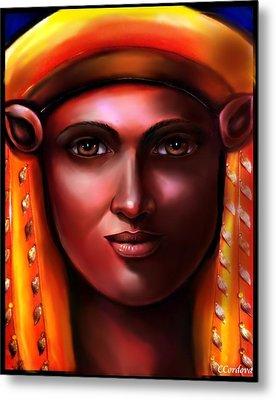 Hathor -egyptian Goddess Metal Print by Carmen Cordova