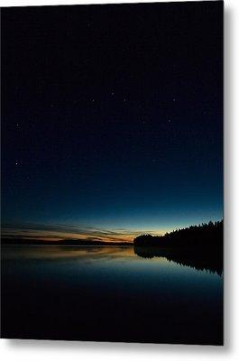 Metal Print featuring the photograph Haukkajarvi By Night With Ursa Major 2 by Jouko Lehto