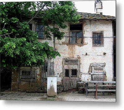 Haunted House In Bulgaria Metal Print by Valia Bradshaw