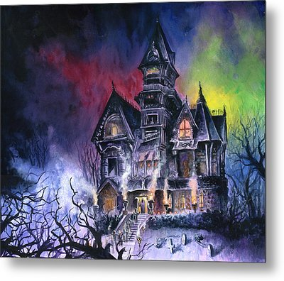 Haunted House Metal Print by Ken Meyer jr