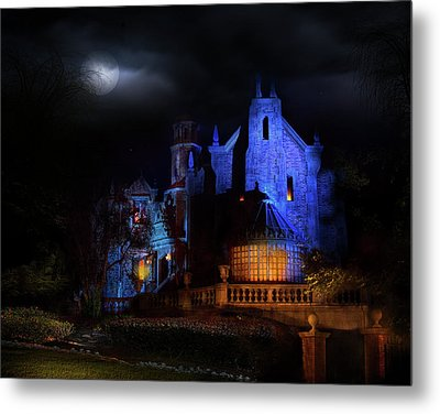 Haunted Mansion At Walt Disney World Metal Print