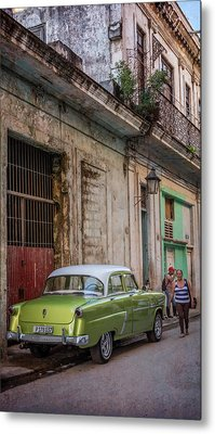 Havana Street Scene Metal Print