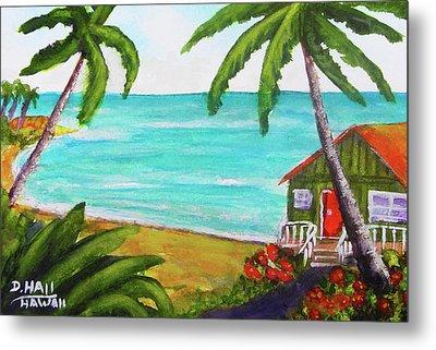 Hawaii Tropical Beach Art Prints Painting #418 Metal Print by Donald k Hall