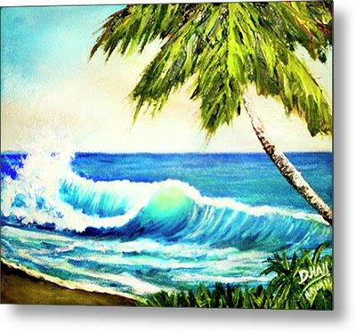 Hawaiian Beach Wave #420 Metal Print by Donald k Hall