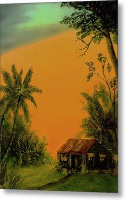 Hawaiian Homestead Sunset #05 Metal Print by Donald k Hall