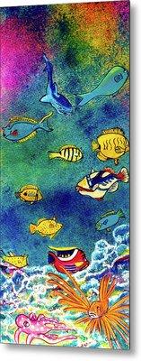 Hawaiian Reef  Fish #223 Metal Print by Donald k Hall