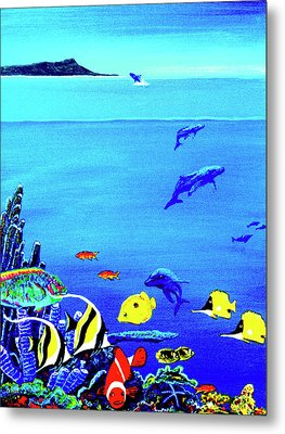 Hawaiian Reef Fish Nimo #193 Metal Print by Donald k Hall