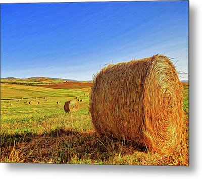 Hay Bales Metal Print by Dominic Piperata