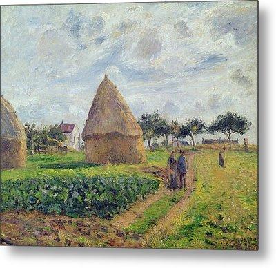 Haystacks Metal Print by Camille Pissarro