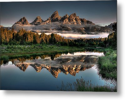 Hazy Reflections At Scwabacher Landing Metal Print by Ryan Smith