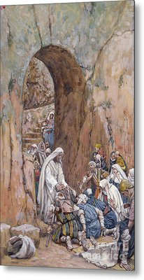 He Did No Miracles Save That He Healed Them Metal Print by Tissot
