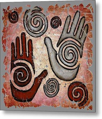 Healing Hands Fresco  Metal Print