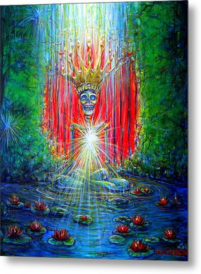 Metal Print featuring the painting Healing Waters by Heather Calderon