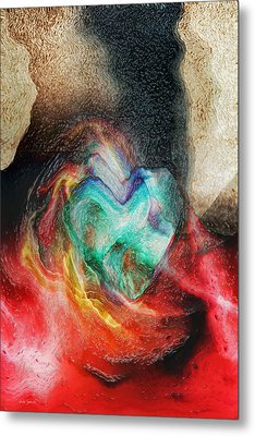 Metal Print featuring the digital art Heart Deep by Linda Sannuti