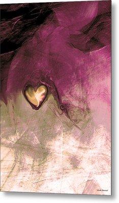 Heart Of Gold Metal Print by Linda Sannuti