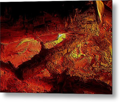 Metal Print featuring the photograph Heart Of The Fire by Erica Hanel
