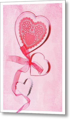 Metal Print featuring the photograph Hearts by Rebecca Cozart