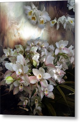 Metal Print featuring the photograph Heavens Orchids by John Rivera