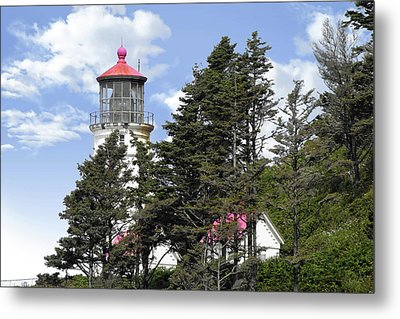 Heceta Head Lighthouse - Oregon's Iconic Pacific Coast Light Metal Print by Christine Till