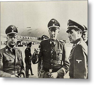 Heindrich Himmler Leftand Heydrich Metal Print by Everett